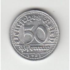 50 пфеннигов, Германия, 1921, D
