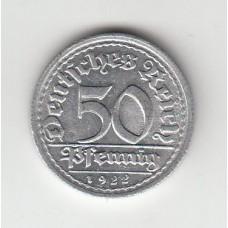 50 пфеннигов, Германия, 1922, G