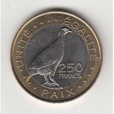 250 франков, Джибути, 2012