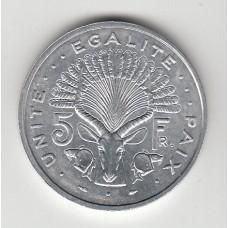 5 франков, Джибути, 1991