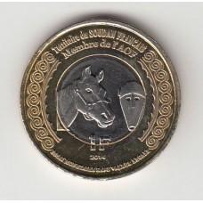 1 франк, Французский Судан, 2014