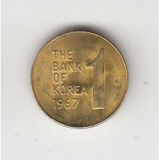 1 вона, Корея, 1967