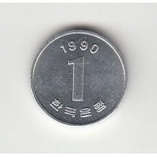 1 вона, Корея, 1990