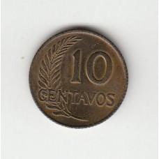 10 сентаво, Перу, 1961