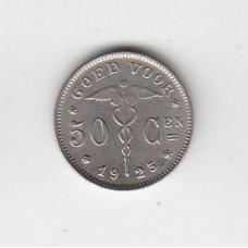 50 сантимов, Бельгия, 1923