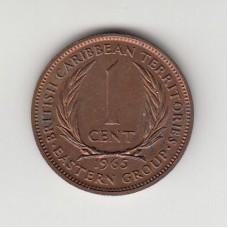 1 цент, Британские Карибские территории, 1965