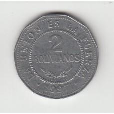 2 боливиано, Боливия, 1997