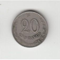 20 сентаво, Парагвай, 1903