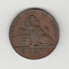 5 сантимов, Бельгия, 1856