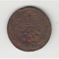 1/4 реала, Мексика, 1836