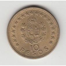 10 песо, Уругвай, 1965