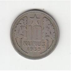 10 куруш, Турция, 1939