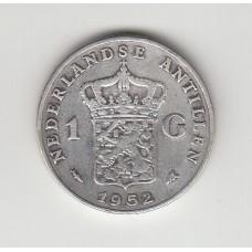 1 гульден, Нидерландские Антильские острова, 1952