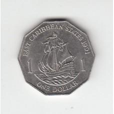 1 доллар, Британские Карибские территории, 1991