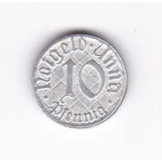 10 пфеннигов, нотгельд, Унна, Германия, 1920