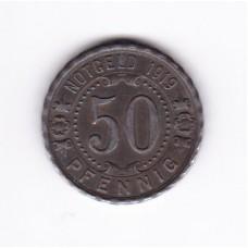 50 пфеннигов, нотгельд, Виттен, Германия, 1919