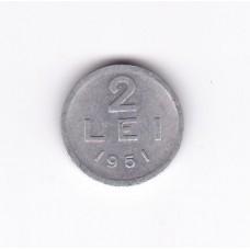 2 лея, Румыния, 1951