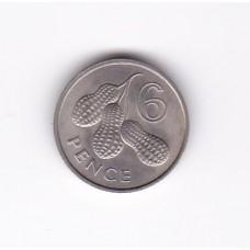 6 пенсов, Гамбия, 1966