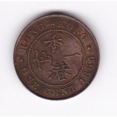 1 цент, Гонконг, 1865