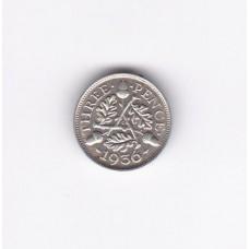 3 пенса, Великобритания, 1936