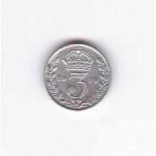 3 пенса, Великобритания, 1910