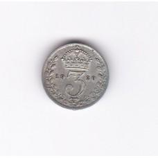 3 пенса, Великобритания, 1920