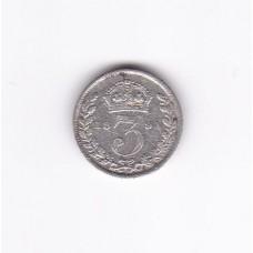 3 пенса, Великобритания, 1891