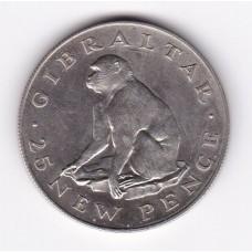 25 новых пенсов, Гибралтар, 1971