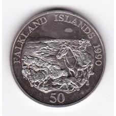 50 пенсов, Фолклендские острова, 1990