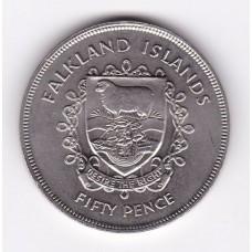 50 пенсов, Фолклендские острова, 1977