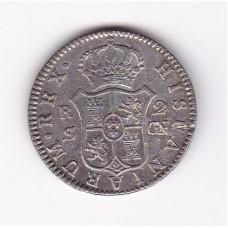 2 реала, Испания, 1808