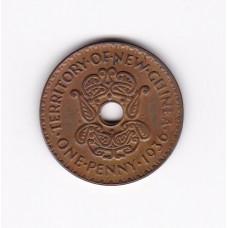 1 пенни, Новая Гвинея, 1936