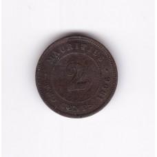 2 цента, Маврикий, 1896