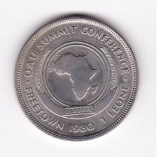 1 леоне, Сьерра-Леоне, 1980