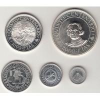 набор монет 5 штук (100, 200, 500, 1000, 2000 песет), Испания, 1989