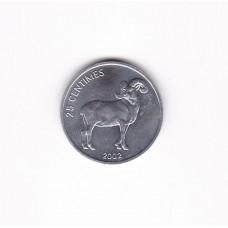 25 сантимов, Конго, 2002