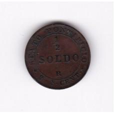1/2 сольдо, Ватикан, 1867
