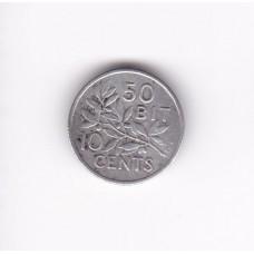 10 центов, Датская Вест-Индия, 1905
