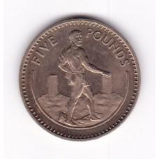 5 фунтов, Гибралтар, 1988
