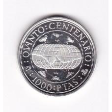 1000 песет, Испания, 1990